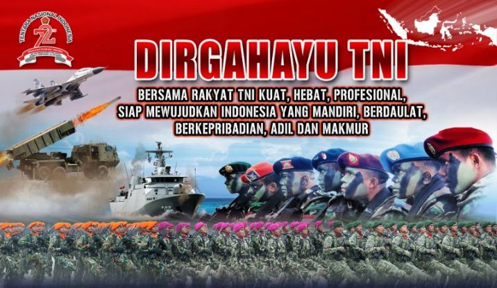 Diguyur Hujan Lebat, Ribuan Warga Tetap Antusias Saksikan HUT TNI