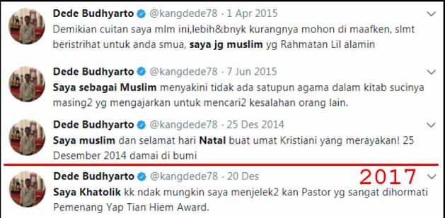 Punya Akun Twitter Terverifikasi, Jokower Ini Malah Tercyduk Menipu Soal Agamanya