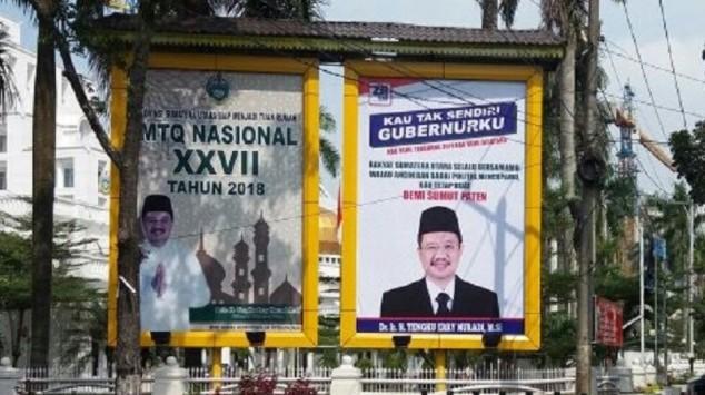 Gagal Ikut Pilgub, Muncul Baliho Coba Menghibur Tengku Erry