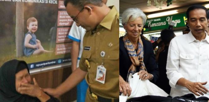 Saat Jokowi Blusukan, Seorang Wanita Malah Histeris Melihat Anies Baswedan