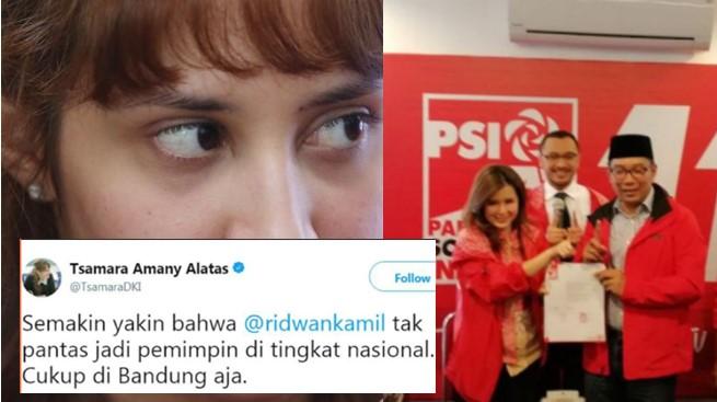 Dulu Tsamara Sepelekan Ridwan Kamil, Sekarang Partainya Malah Dukung dan Kasih Penghargaan