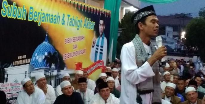 Ibaratkan Jari Telunjuk, Ustad Somad sebut Insha Allah Edy-Ijeck Peduli Ulama
