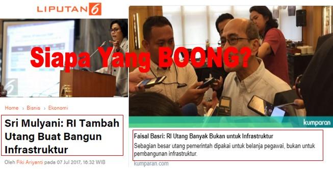 """Bikin Bingung Prabowo, """"Sri Mulyani Sebut Utang Untuk Infrastruktur, Sedang Faisal Basri Sebut Utang Untuk Pegawai"""""""