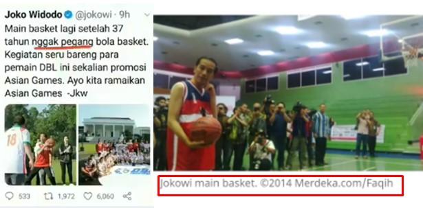 2014 Masih Pegang Bola Basket, Jokowi Malah Ngaku Sudah 37 Tahun Tak Pegang Bola Basket