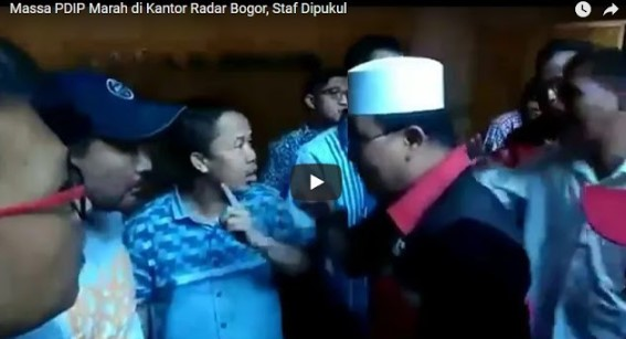 [Video] Massa PDIP Marah Besar di Kantor Radar Bogor, Staf Dipukul