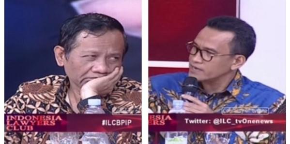 Begini Reaksi Prof Mahfud MD ketika Prof Refly Harun Sebut Tak Setuju BPIP di ILC