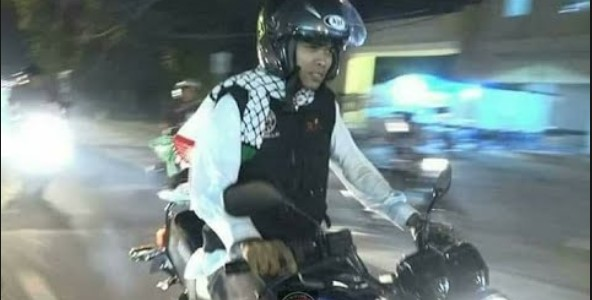 Usai Naik Motor RX King, Kini Ustaz Abdul Somad Naik Harley di Padang