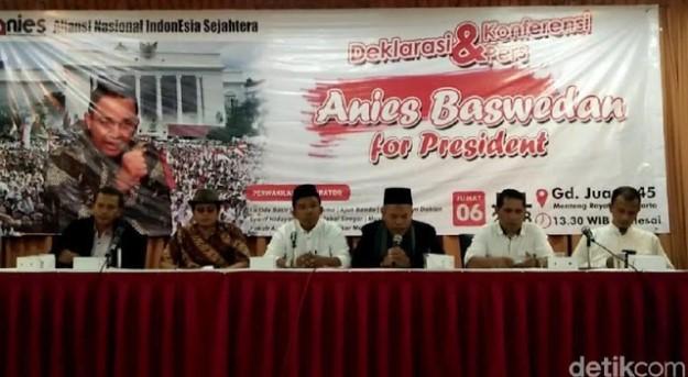 ANIES Deklarasikan Anies Baswedan sebagai Capres 2019