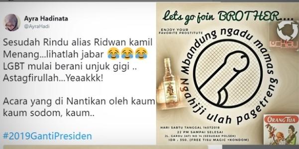 Poster Acara LGBT Bandung Beredar di Medsos, Netizen: Sesudah Ridwan Kamil Menang
